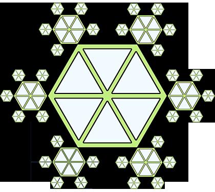 hexagon snowflake pattern